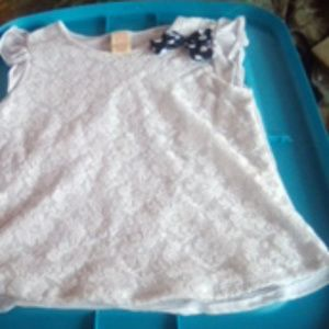 Faded Glory Childs White Lace top XL